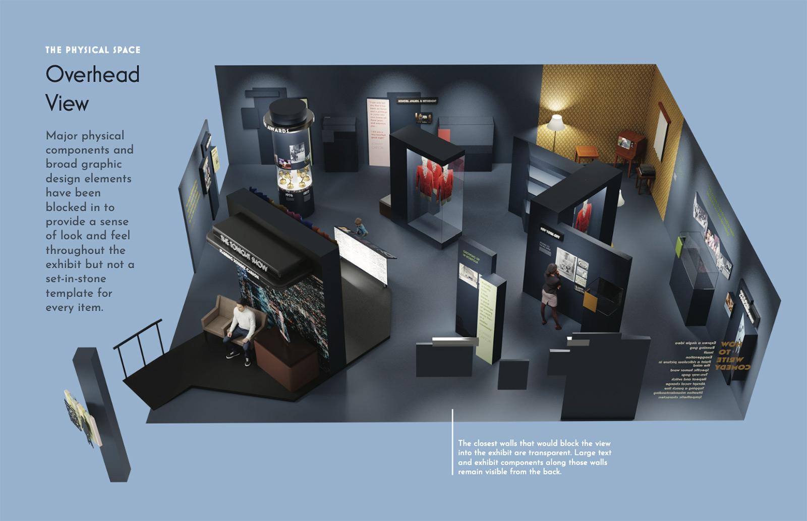 Johnny Carson museum exhibit rendering