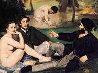 The models at the centre of Manet's first controversial work