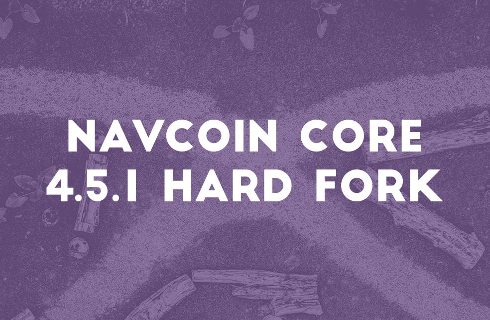 NavCoin Core 4.5.1 Hard Fork