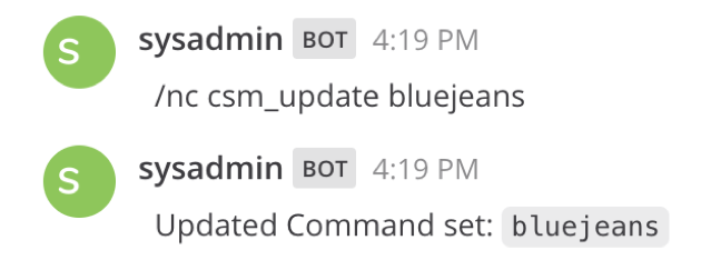 Revert or update Command Set