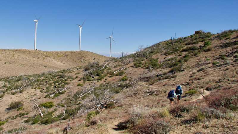 Just Awesome and Spamala climb toward wind farm