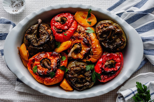Greek Stuffed Peppers (Yemista)