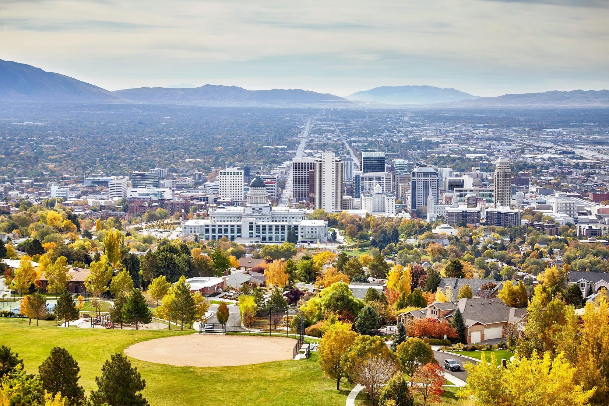 City view of the University of Utah in Salt Lake City