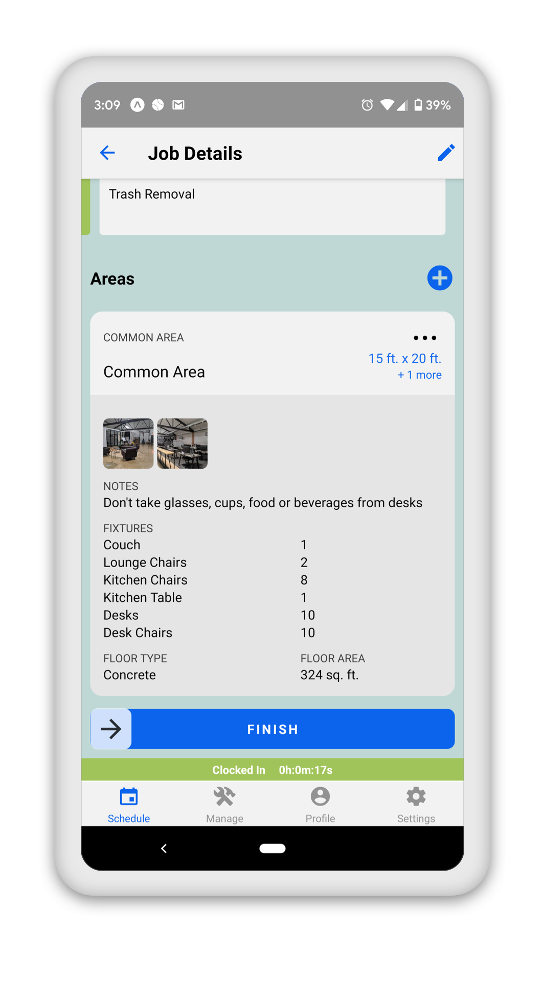 Route Mobile Workflow Management for Building Services
