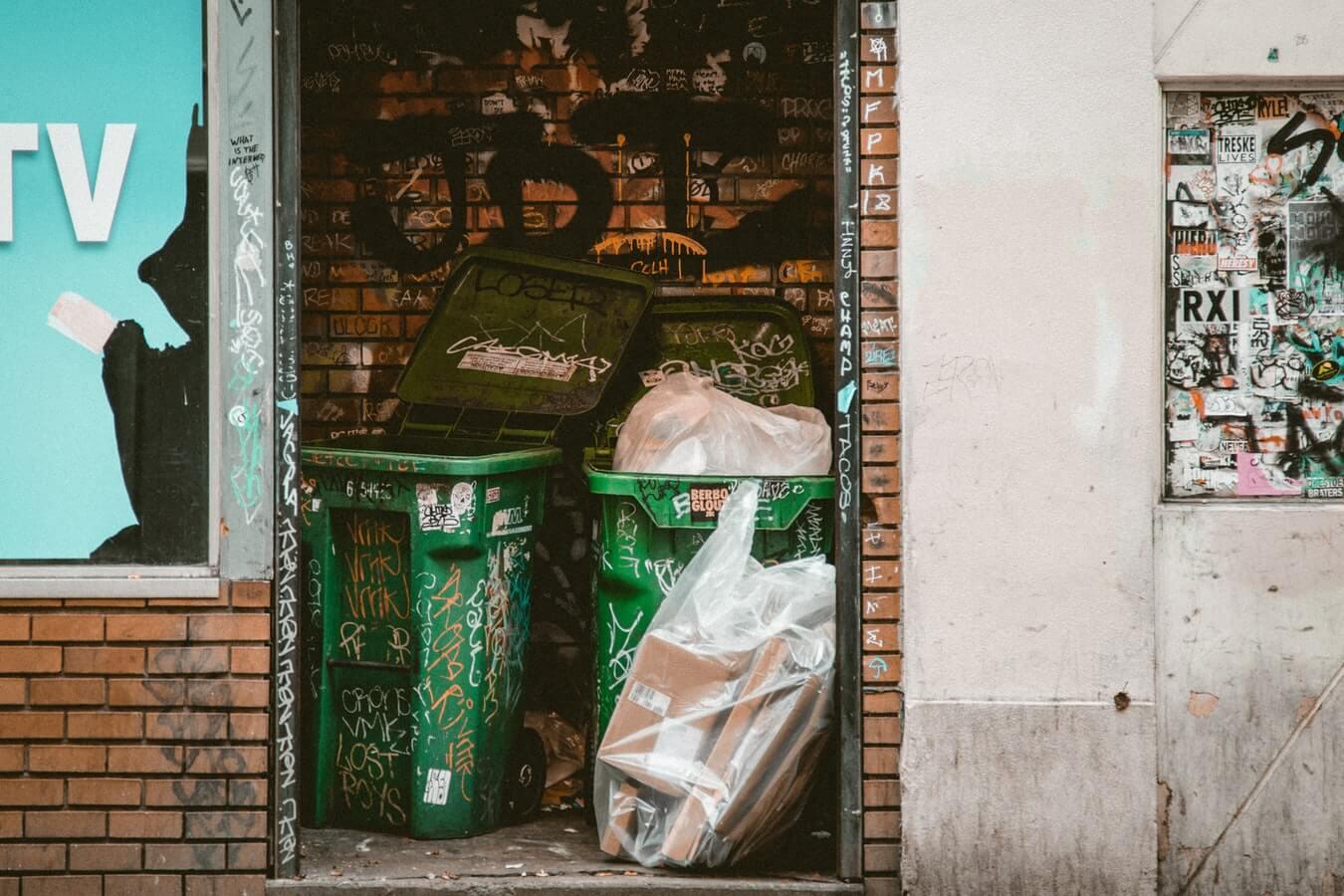 Some bins.