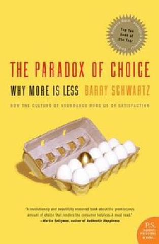 Book cover of 'The Paradox of Choice'