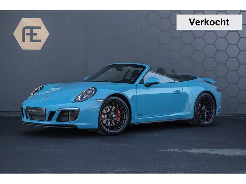 Porsche 911 GTS Carrera Cabriolet 3.0 MIAMI BLUE + SPORTUITLAAT + BTW MIAMI BLUE + SPORTUITLAAT afbeelding 5