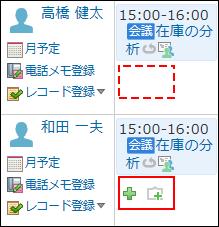 予定の登録アイコンが表示されないイメージ