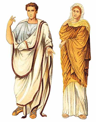 Ancient roman man and woman