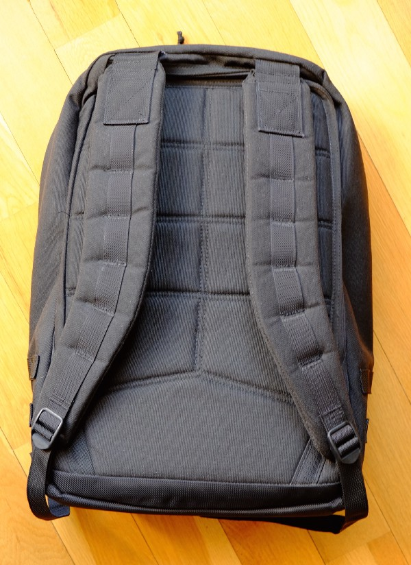 Heavily padded backpack straps