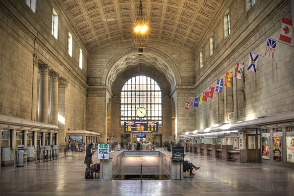 Union Station in Toronto, Canada.