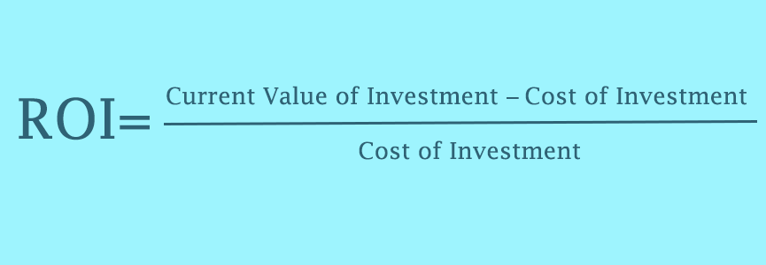 Return on Investment formula