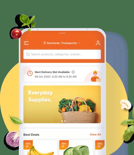 Single or Multi-vendor Mobile App for Grocery Business