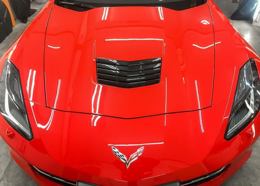 Chevrolet Corvette car with paint protection film applied