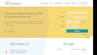essayshark.com main page