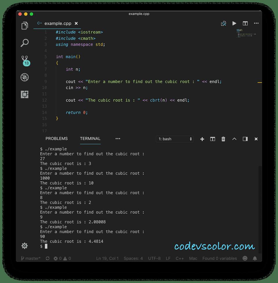 C++ find cube root