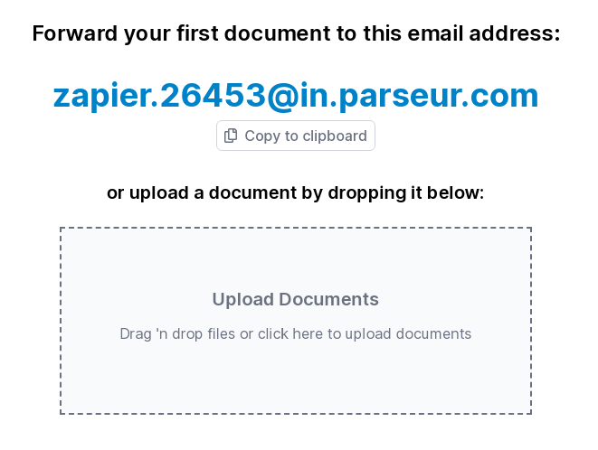 Parseur email address generated automatically