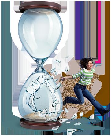 hourglass-lady
