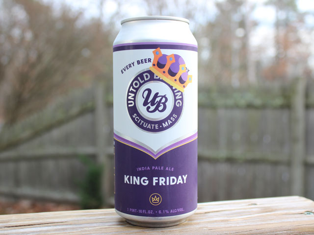 King Friday, a IPA brewed by Untold Brewing