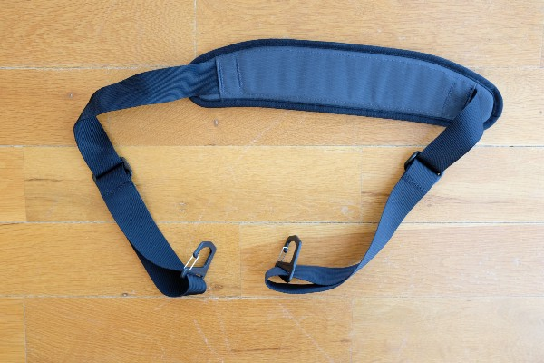 The shoulder strap add-on (sold separately)