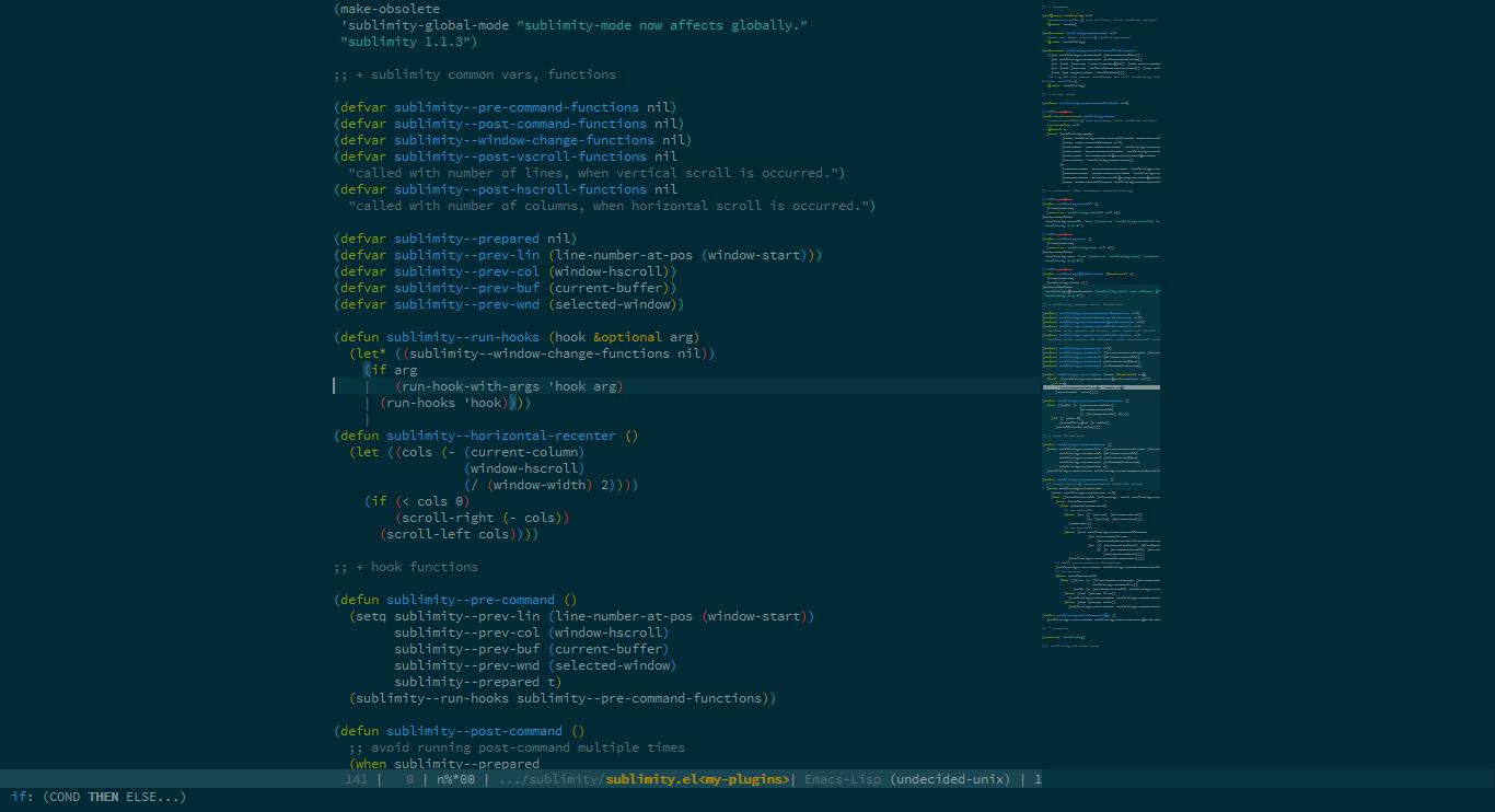 Sublimity - Emacs