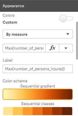Configuring colors in Qlik Sense