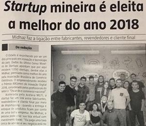 Startup mineira é eleita a melhor do ano 2018
