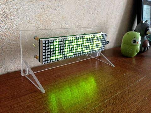 Часы на светодиодных матрицах и микроконтроллере