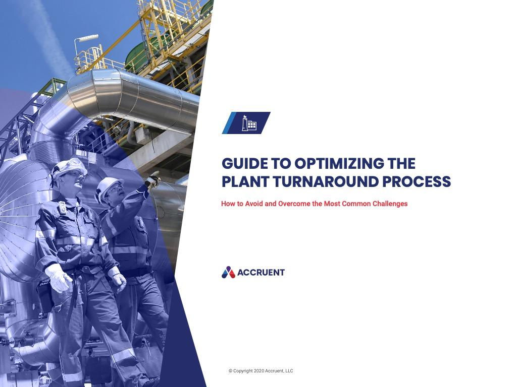 Accruent - Resources - eBooks - Guide to Optimizing the Plant Turnaround Process - Cover Image