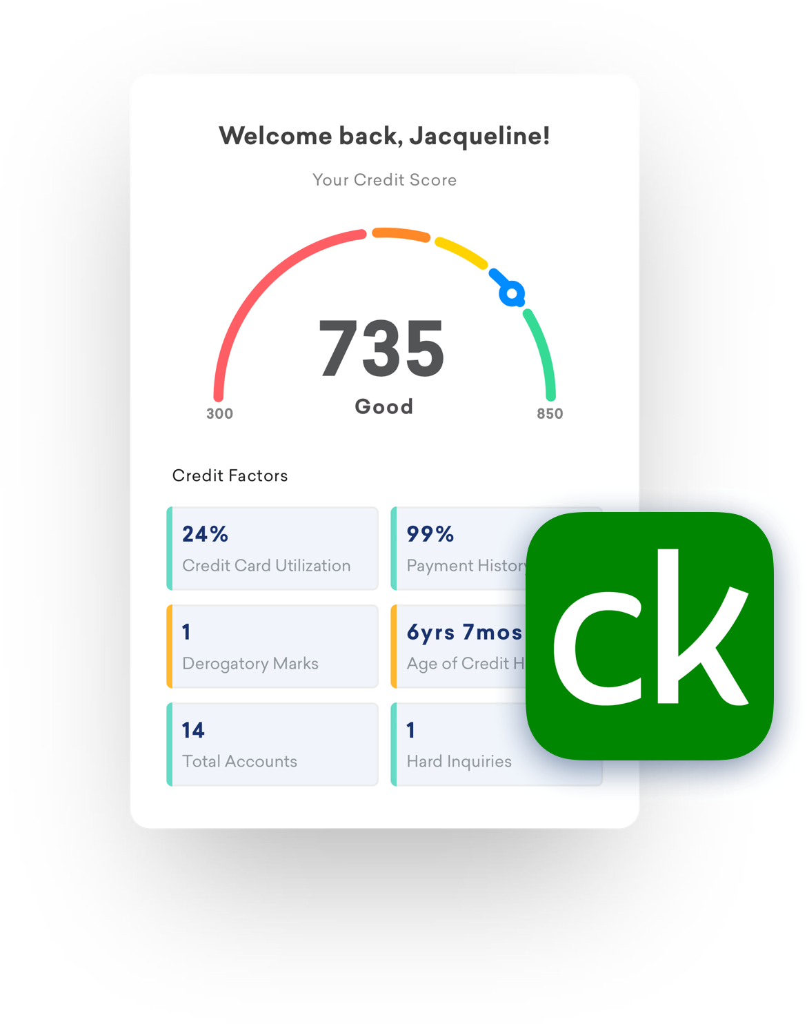 illustration of credit karma ui