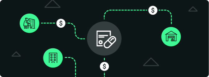 Diagram showing improved income for a pharmacy when using smart lockers