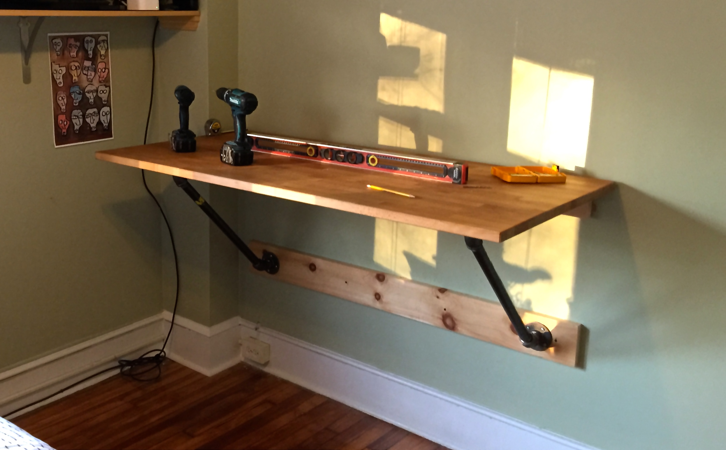 I Made My Own Wall Mounted Standing Desk And So Can You Matt Mcmanus