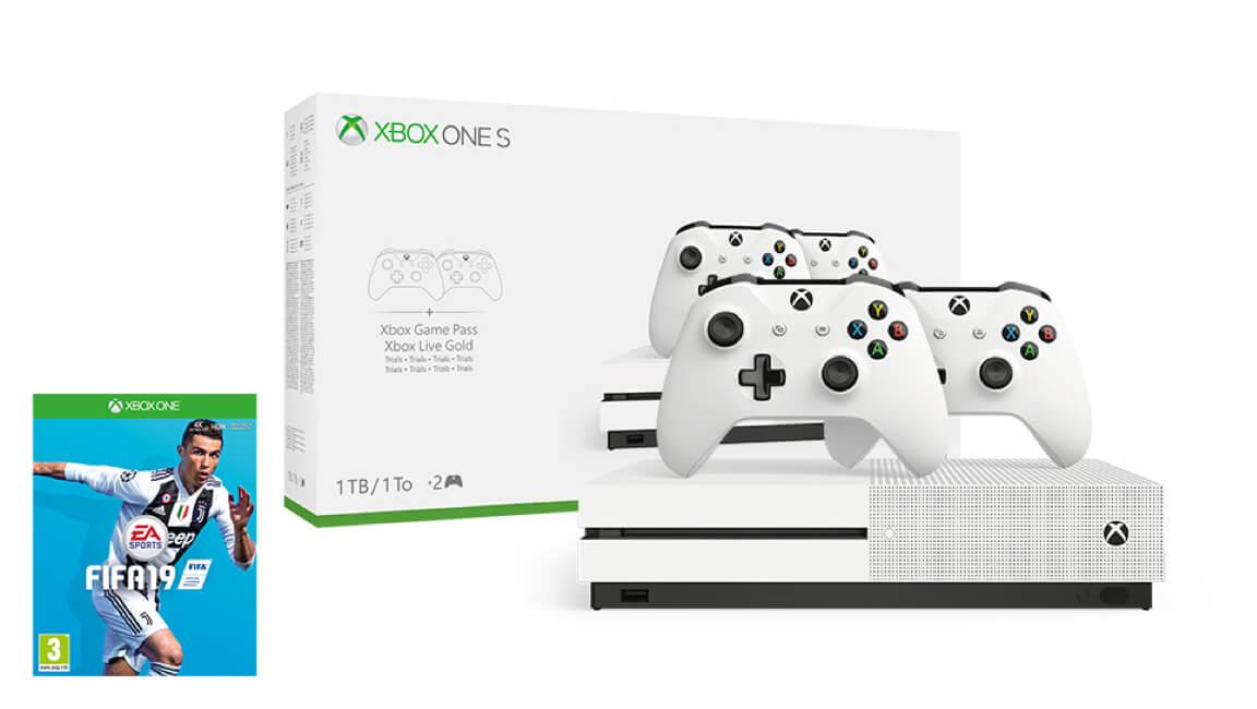 Xbox One S 1TB<br/>FIFA 19 Paketi + 2. Kumanda Hediye