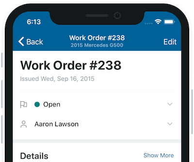 Mobile work order half