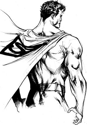 Superman Back Sketch