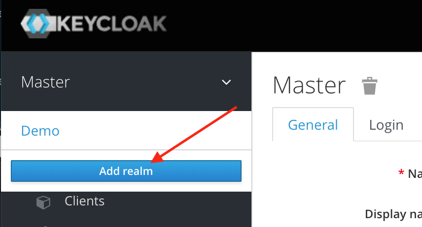 KeyCloak Add Realm Screenshot