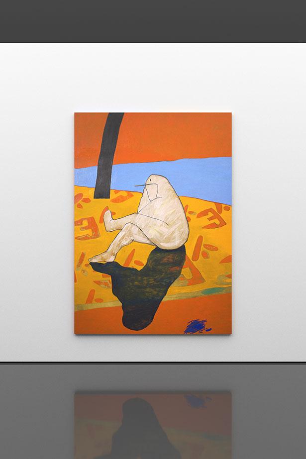 Figure in Landscape, 2019        oil on canvas        220 × 156 cm