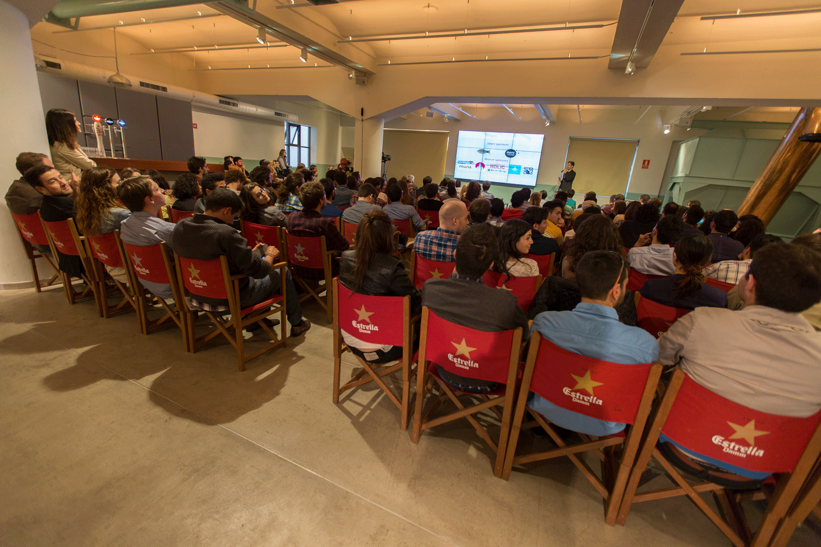 Thanking sponsors at Startup Grind Barcelona