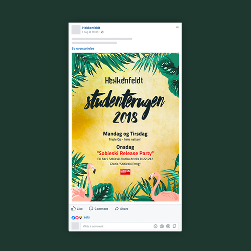 Facebook post - Hekkenfeldt