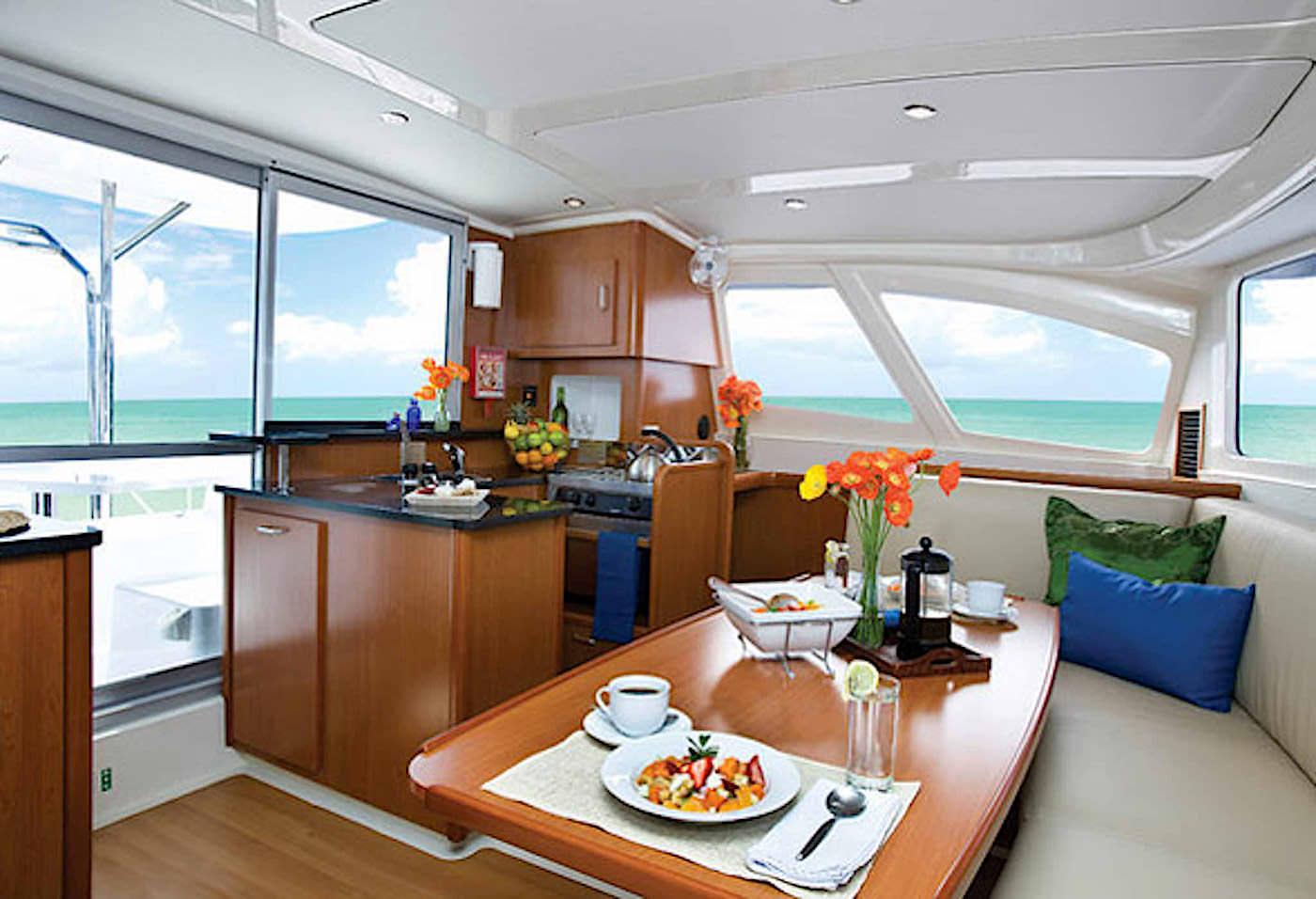 Blue Horizon Surf Catamaran Private Charter Dining