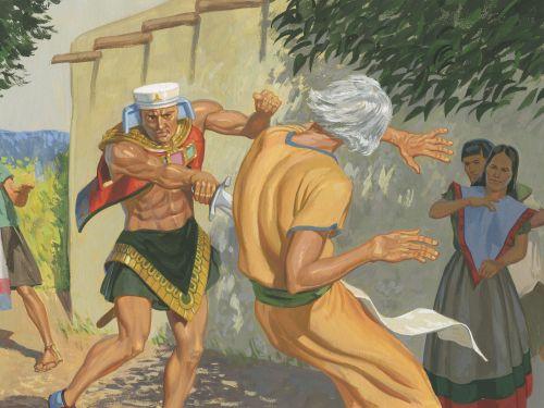 Nehor kills Gideon