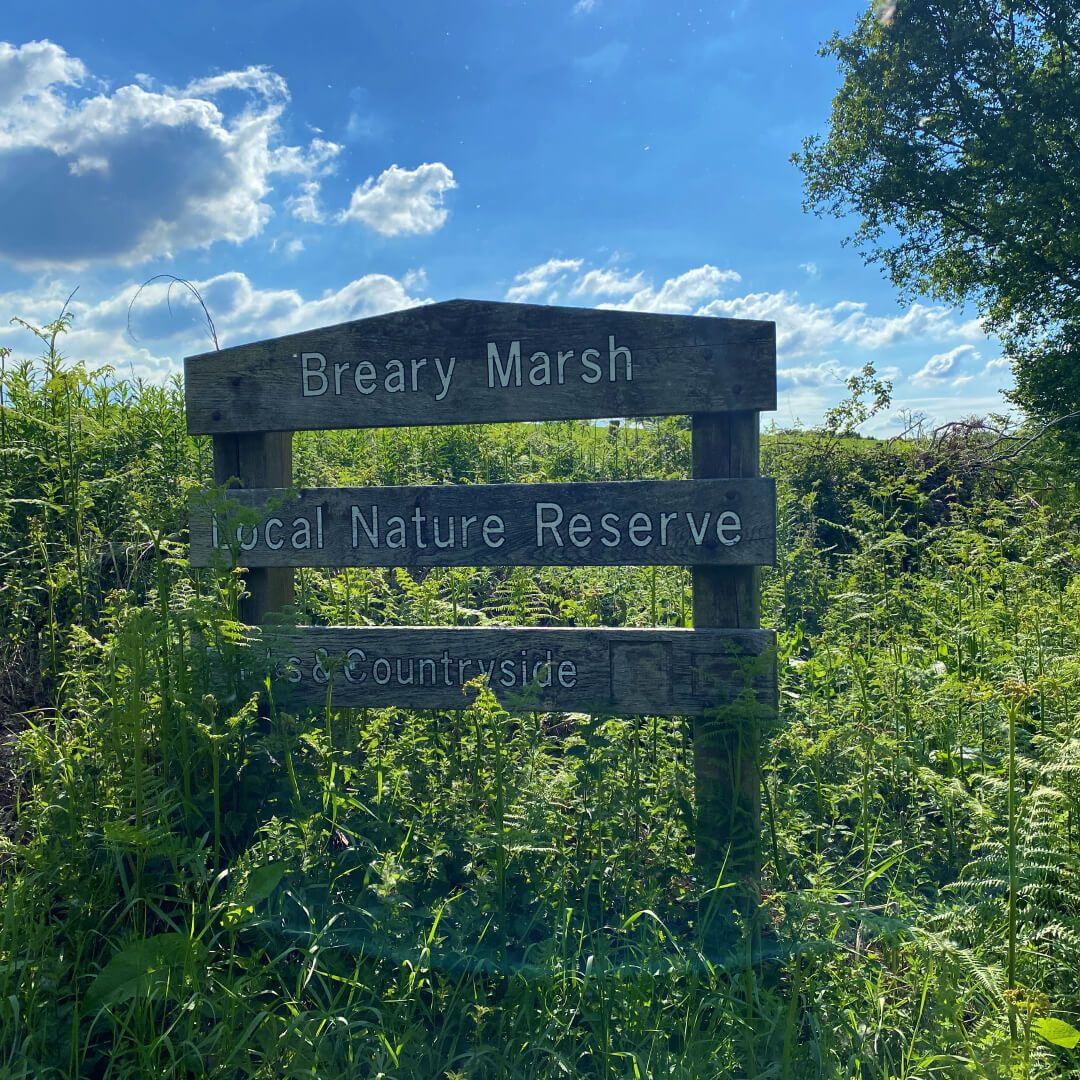 Breary Marsh entrance sign