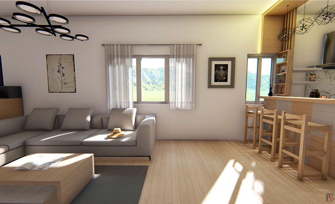 Vitrag Streamside Apartment for sale near Ooty - Living room