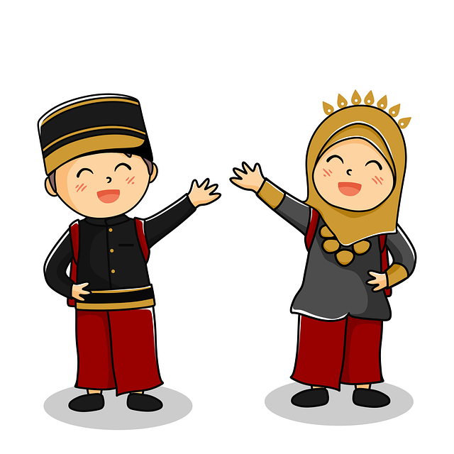Indonesia people illustration