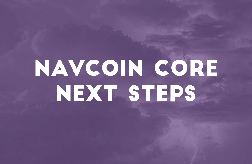 NavCoin Core Next Steps