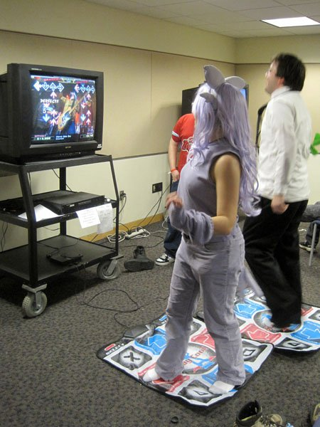 The game room at Animarathon IX.