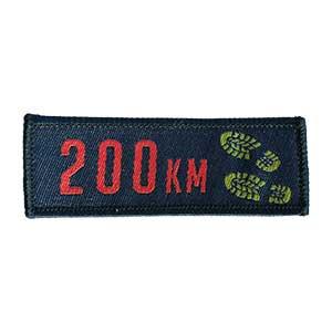 200 km mærket spejdermærke