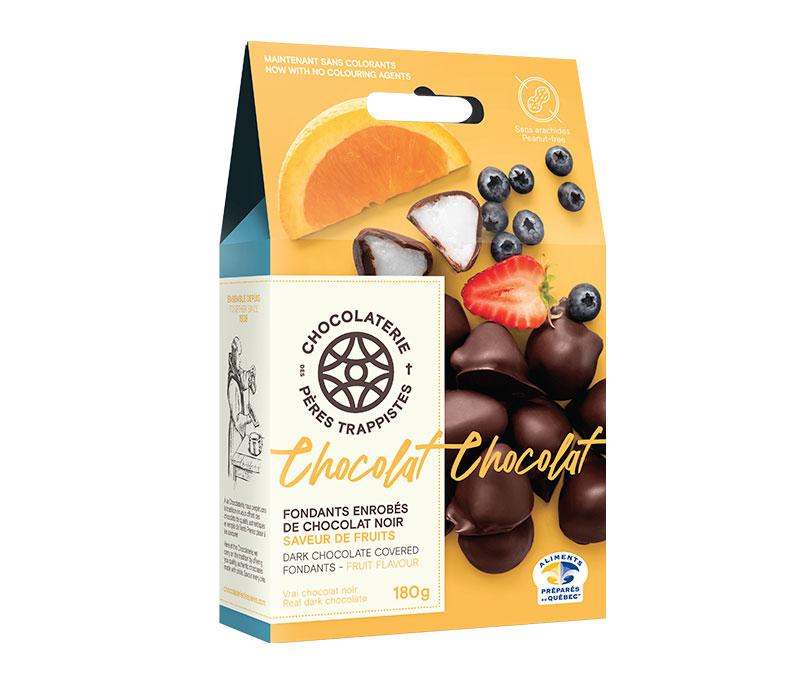 Chocolat Fondants enrobés de chocolat noir - Saveur de fruits