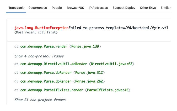 Android Error details & metadata