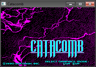 The original Catacomb menu screen rendered in the cataclone engine.